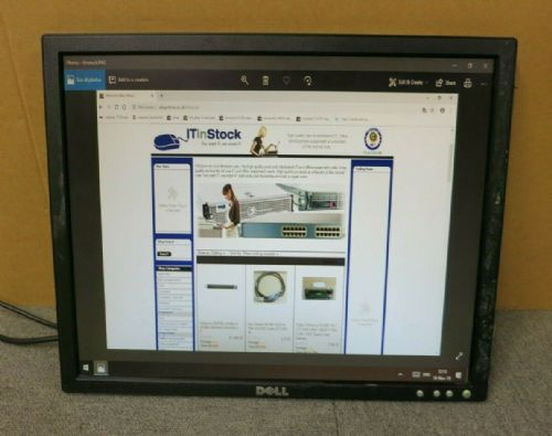 "Dell UltraSharp HU183 E198FPB Black 19"" LCD TFT Monitor VGA No Stand"